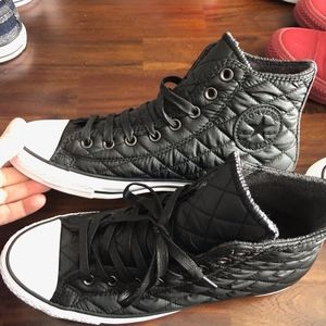Converse high top insulated shoe